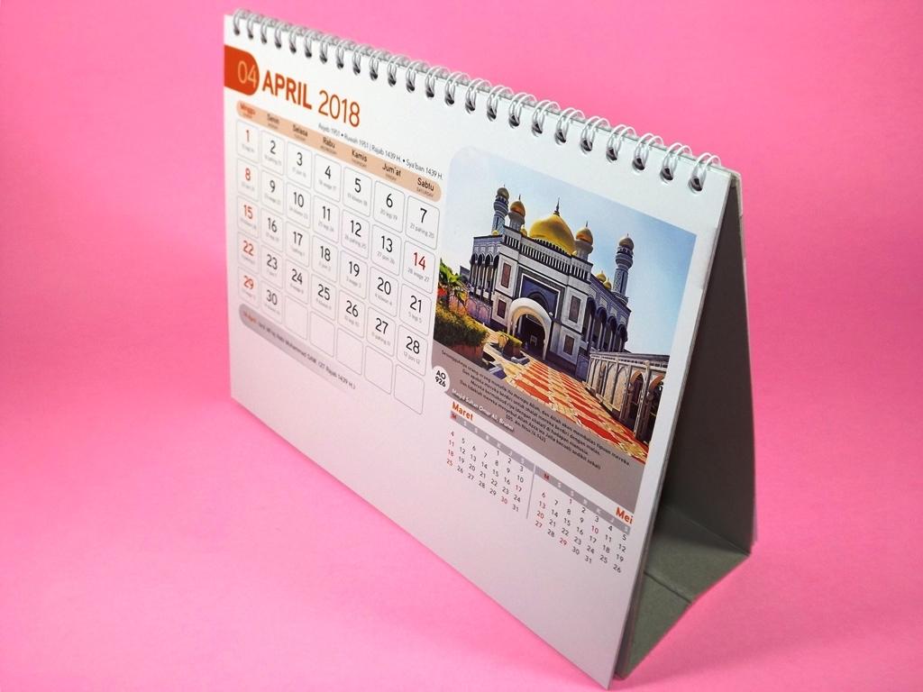 Kalender meja 2018 bergambar masjid dunia AO 926