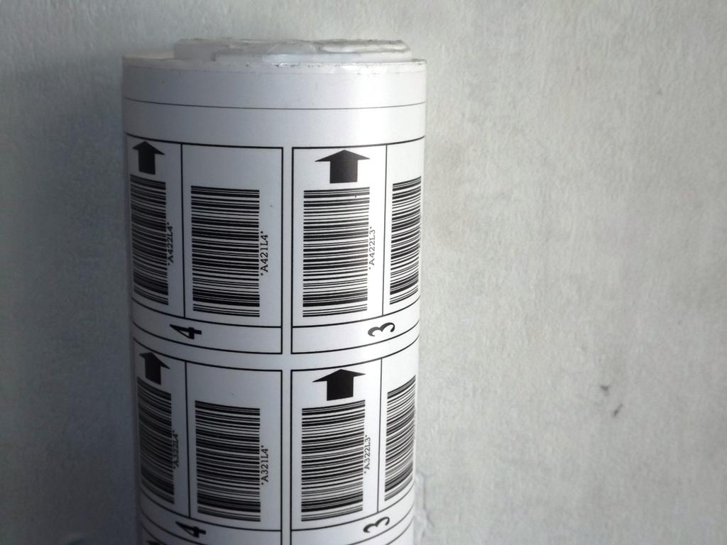 Sticker Bar Code Acrylic Printing