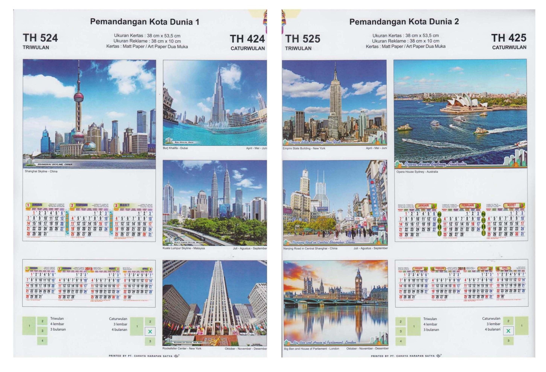 Kalender Triwulan Dinding 2018 Ukuran 38x53cm Cahaya Harapan Satya
