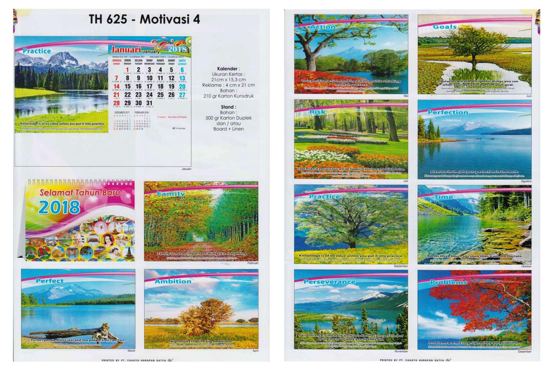 Kalender Meja 2018 Cahaya Harapan Satya 21x15cm