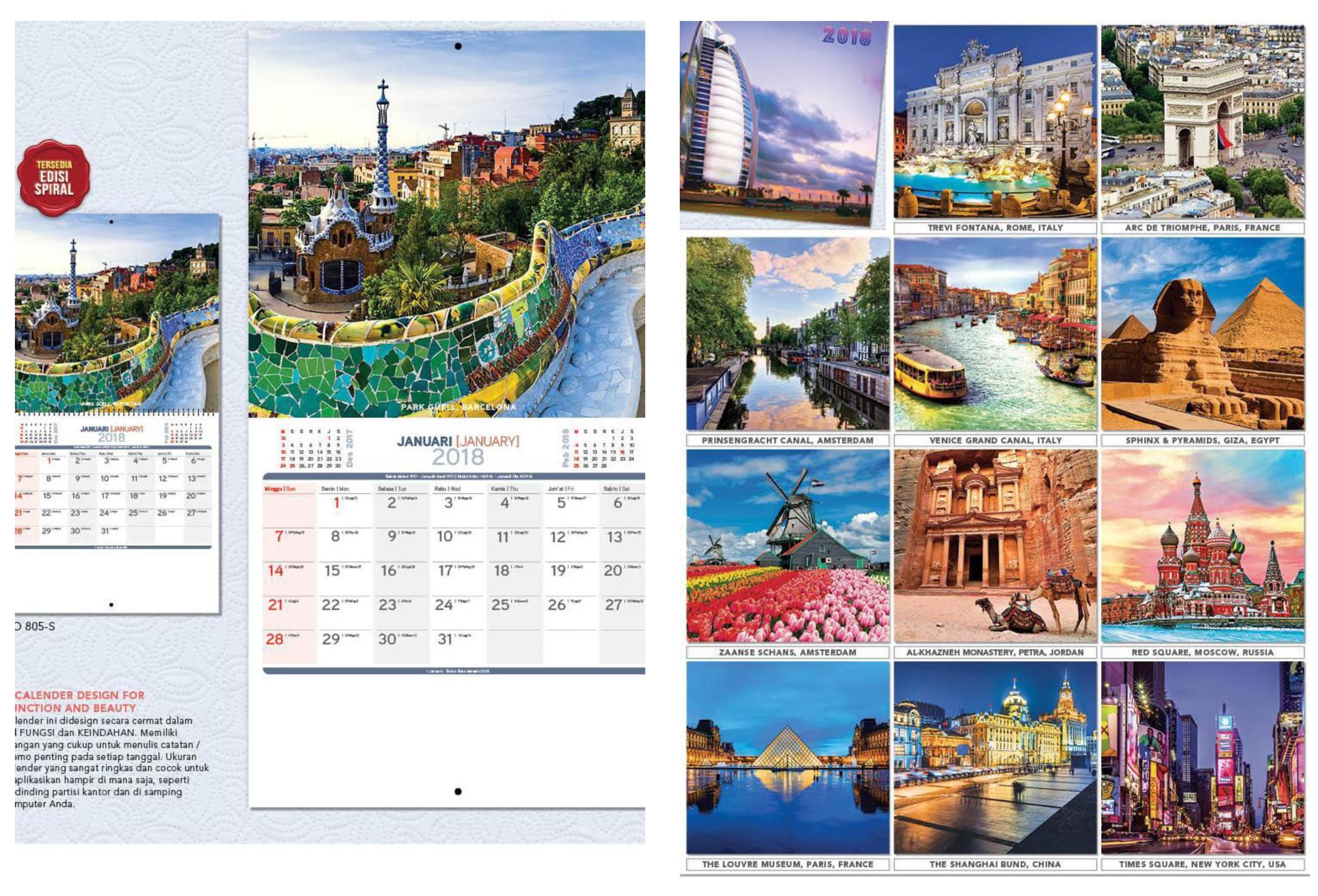 Kalender dinding 2018 desain executive AO blangko