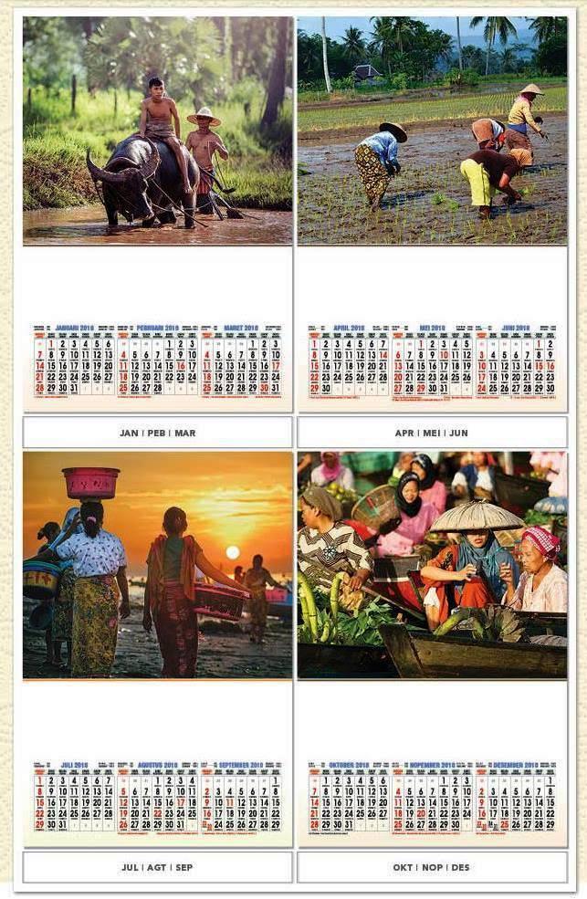 Kalender Dinding 2018 Profesional Triwulan Ekonomi Rakyat ...