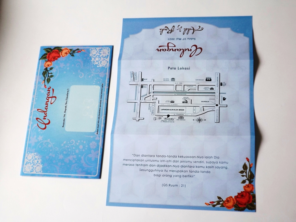Undangan Pernikahan Blangko Flower Card Wedding Invitations