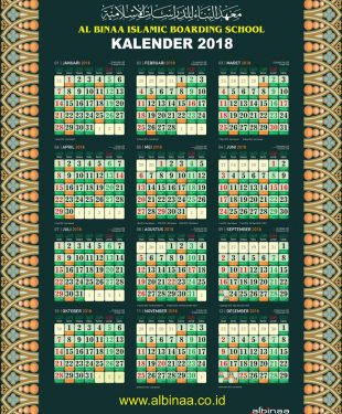 Kalender Dinding 2018 Vector Free Download PDF Lengkap Jadwal Sholat