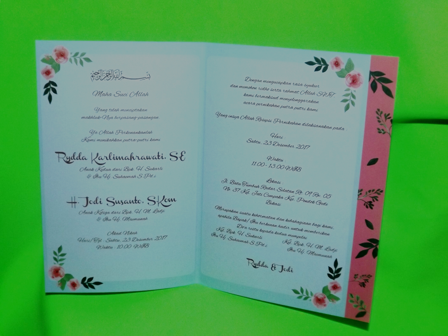 Three Diamonds Card Wedding Invitations