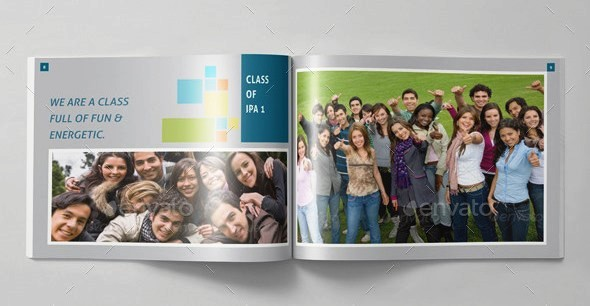 Album kenangan school yearbook templates