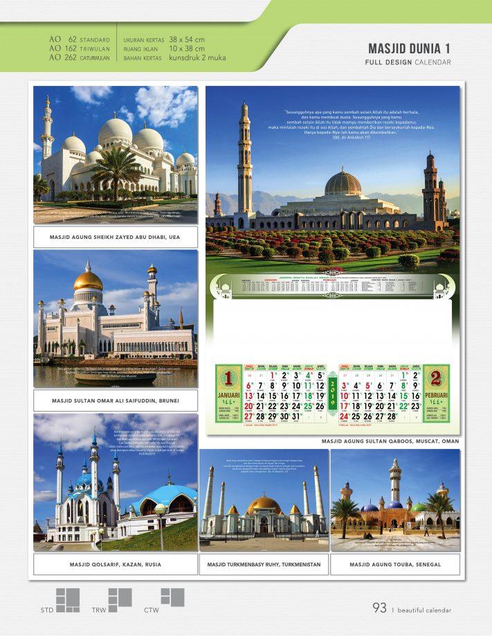 Contoh Desain Kalender Masjid - Rumah Joglo Limasan Work