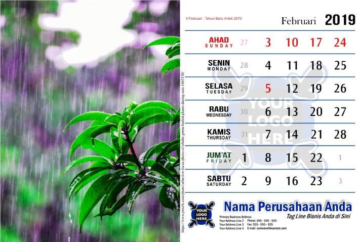 Template Kalender 2019 Free Download Tema Hujan Pdf Jpg Cdr Corel