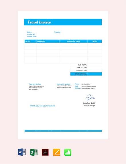 07 Travel Invoice Template Ayuprint Co Idayuprint Co Id