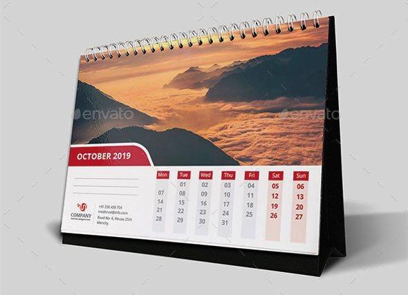 Template Desain Kalender Meja 2019 PSD AI InDesign