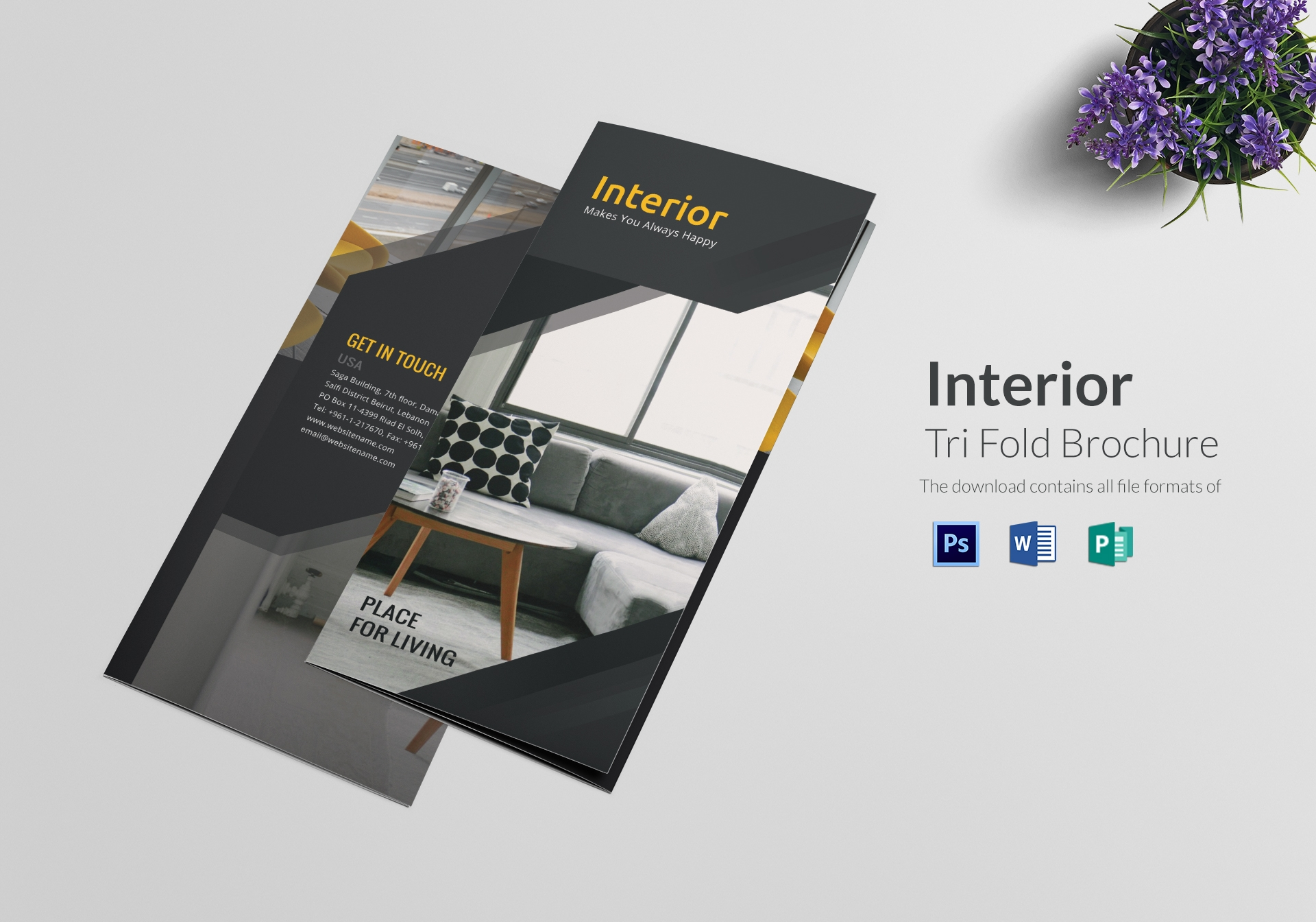 Template Brosur Interior