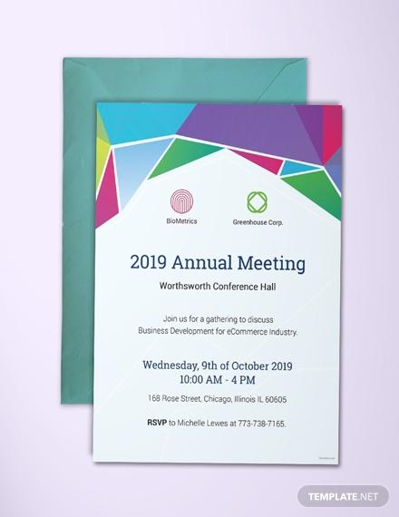 Undangan Rapat Bisnis Tahunan