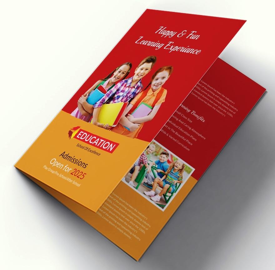 19 Free Kindergarten Bi Fold Brochure Design Template Ayuprint Co Idayuprint Co Id