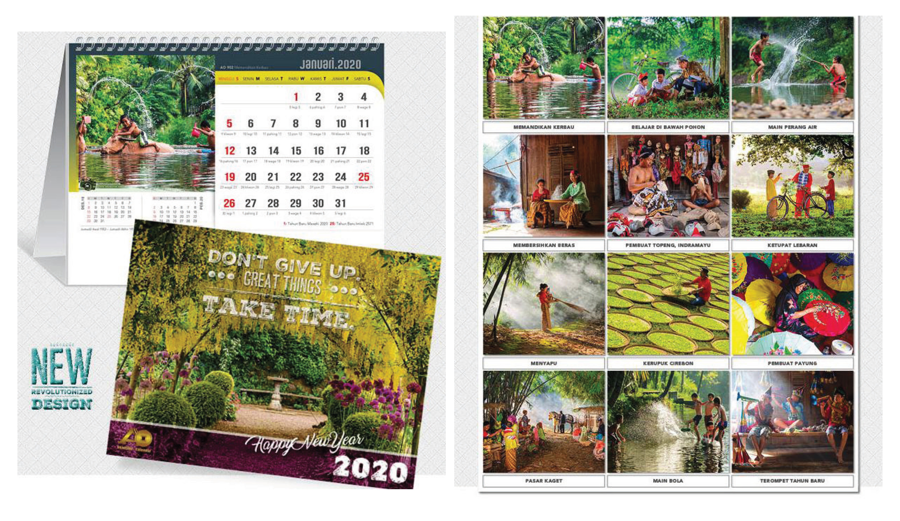 Kalender Meja 2020 Desain AO Blangko