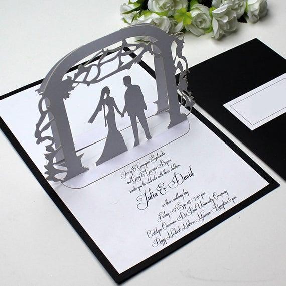 Desain Undangan Pernikahan Pop-Up