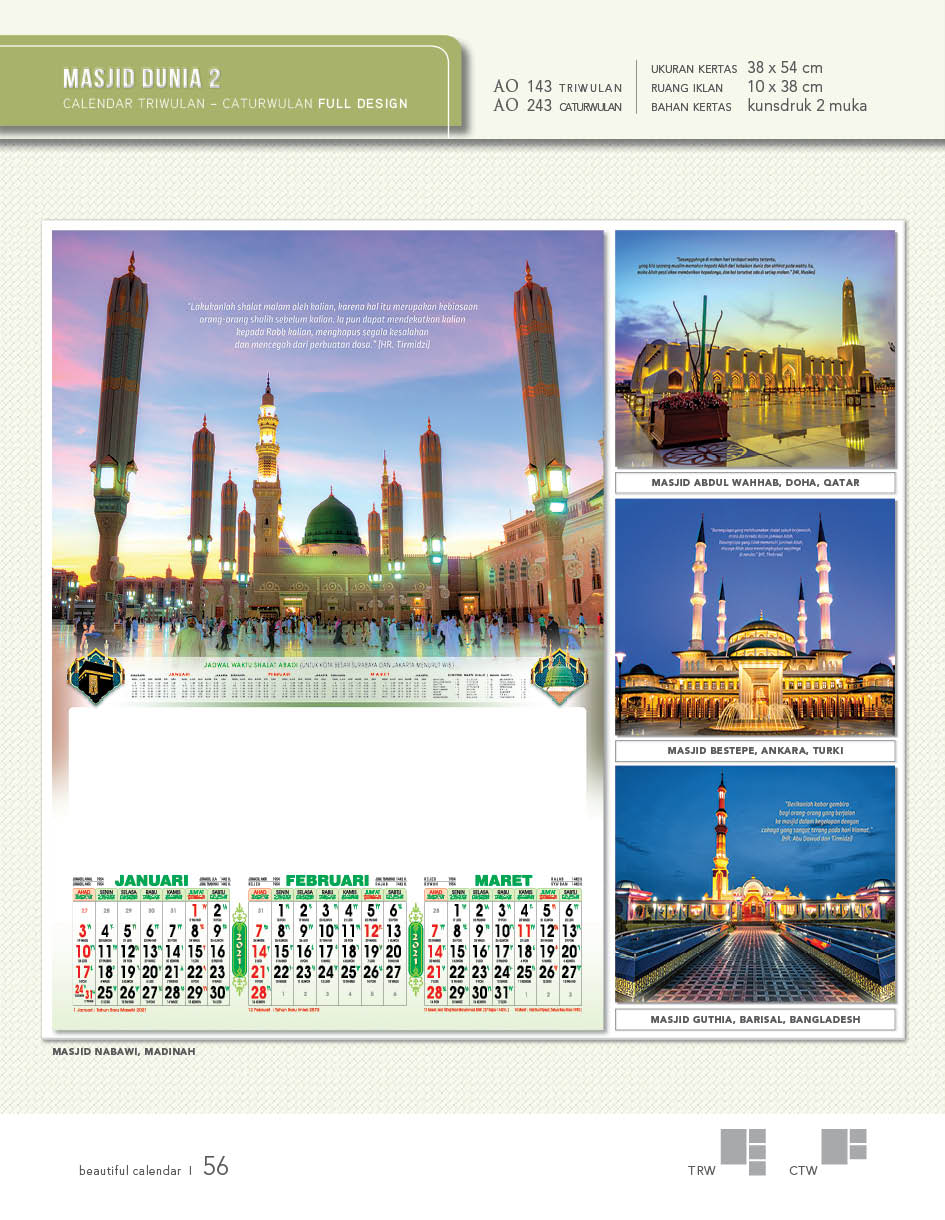 kalender 2021 triwulan
