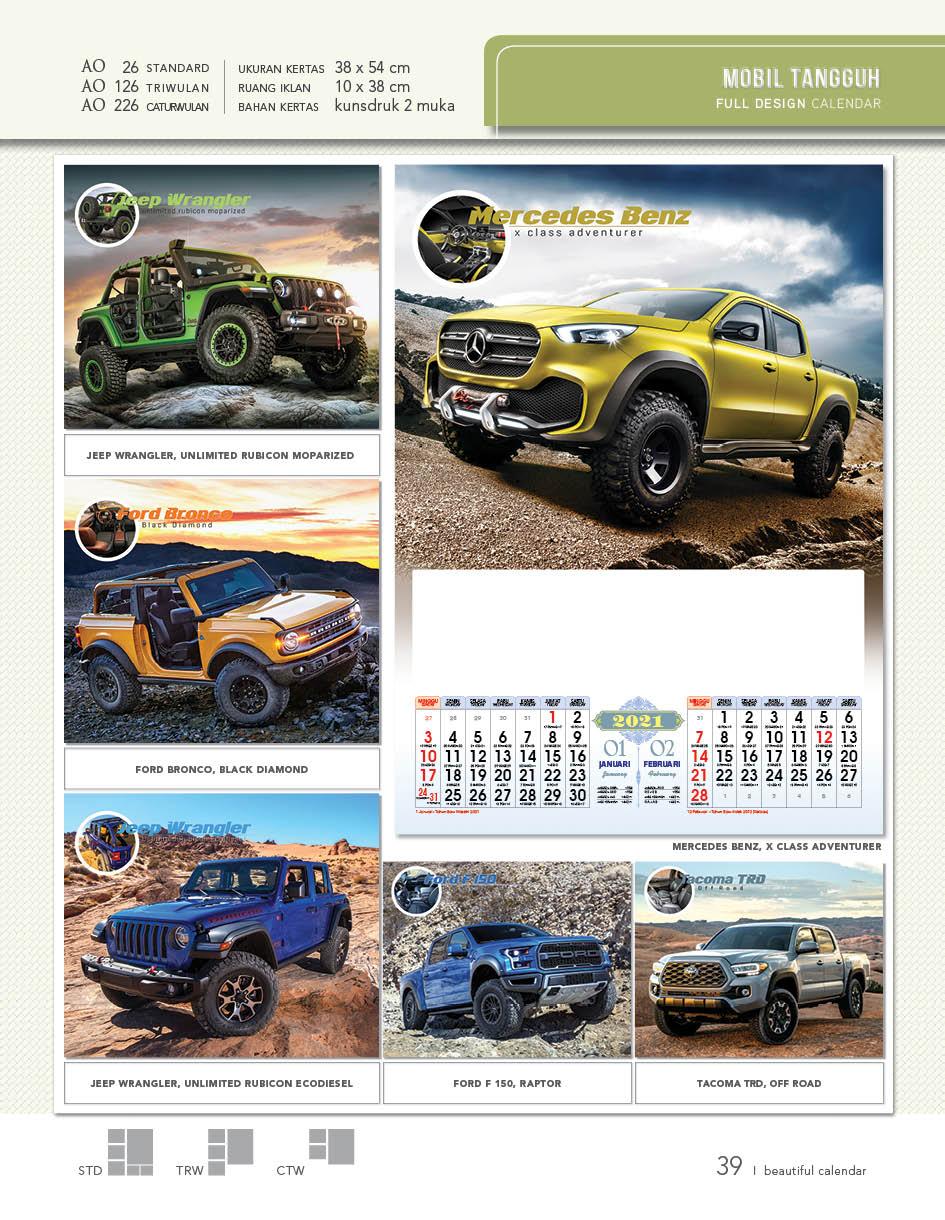 Kalender Dinding AO 2021 Full Design Standard