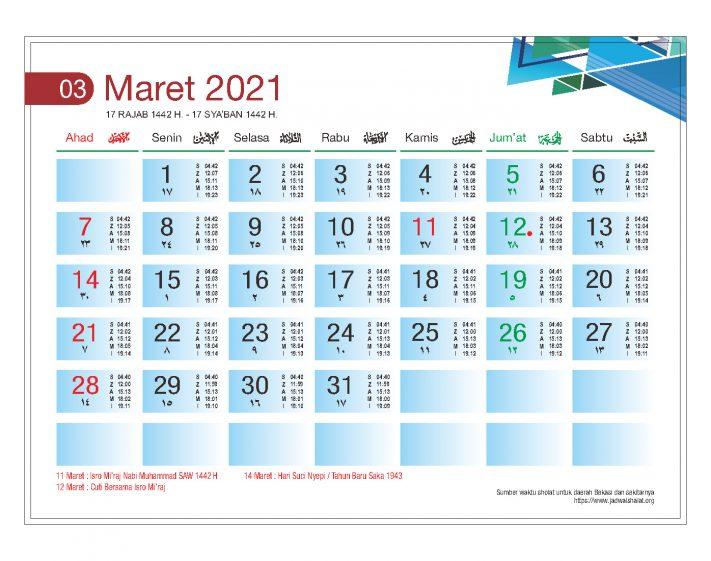 Download Template Kalender Meja 2021
