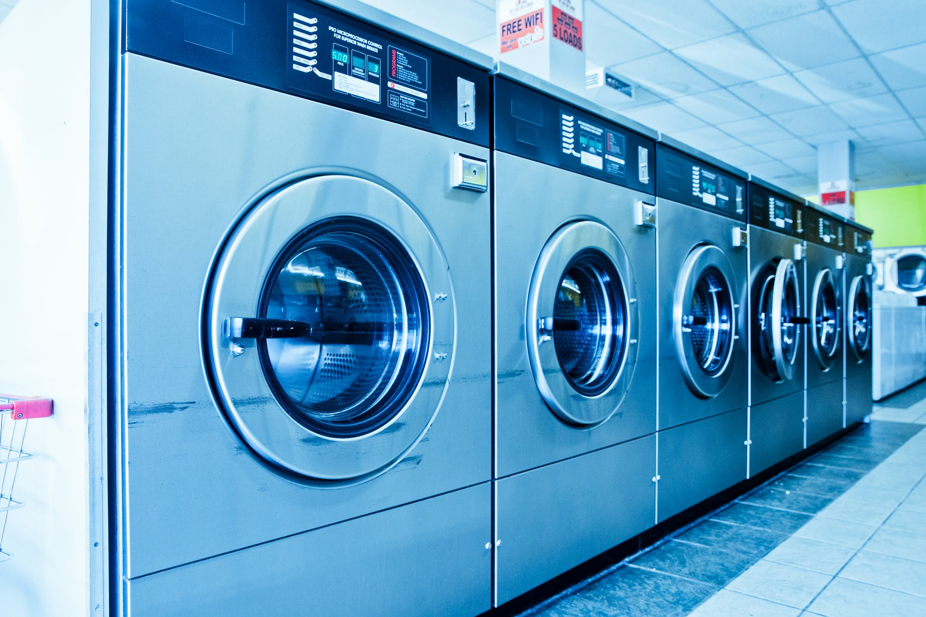 photo of laundromat machines