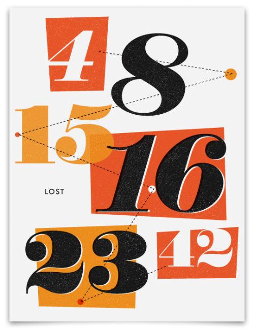 24 Contoh Poster Bertema Angka dengan Teknik Tipografi Menarik